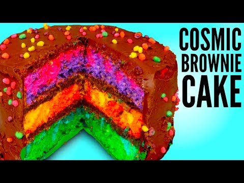 THE COSMIC BROWNIE CAKE - How To Make Little Debbie Galaxy Cake DIY