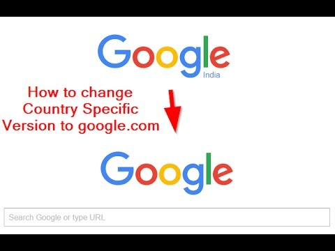 How to change Country Specific Version to google.com