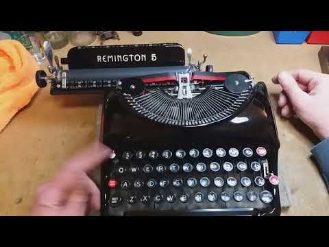 HOW TO USE YOUR NEW OLD TYPEWRITER! a guide to the Remington Streamlined Model 5
