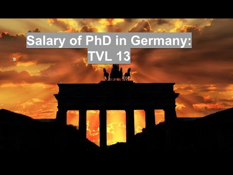 Fastepo: PhD and Postdoc salary in Germany (TV-L 13)
