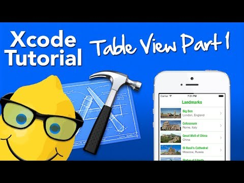 XCode 5 Tutorial Table View Part 1 - Populating The Table - Geeky Lemon Development