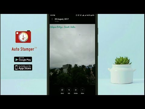 How to auto add GPS Location Tag to Camera Photos with Auto Stamper App?