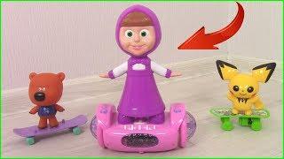 Download Маша на ГИРОСКУТЕРЕ! Кеша НЕ ХОЧЕТ ДЕЛИТЬСЯ с Машей? Мультики с игрушками для детей Video