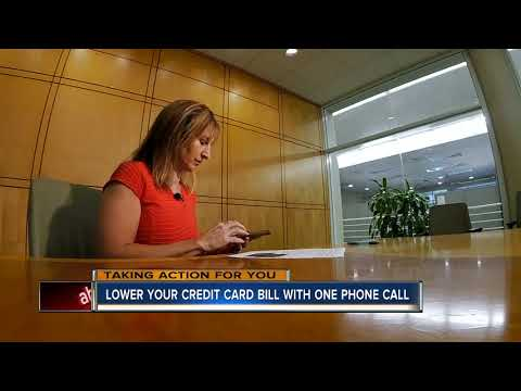 How to lower your credit card rate with a single call