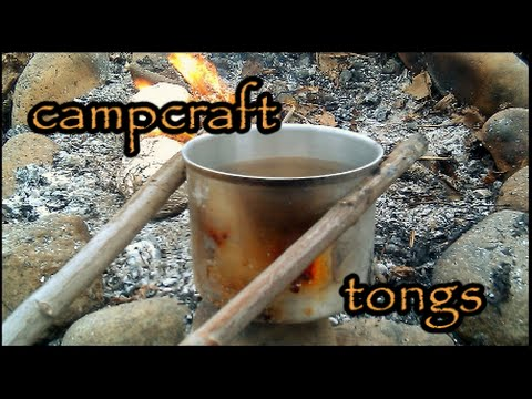 how to make tongs for camp
