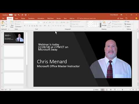 Import a Word Doc into Microsoft Sway and use Focus Points by Chris Menard