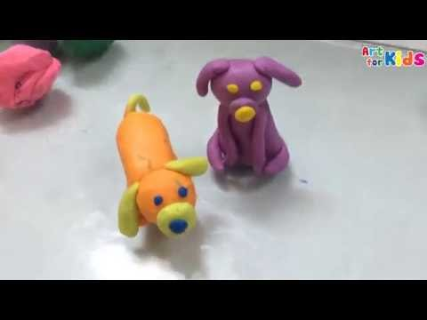 Clay art for kids | How to make a dog for kids | Clay animals | Art for kids