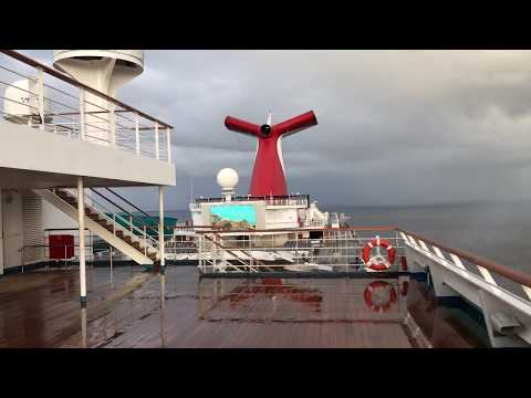 Top Deck of a Cruise Ship - Carnival Liberty