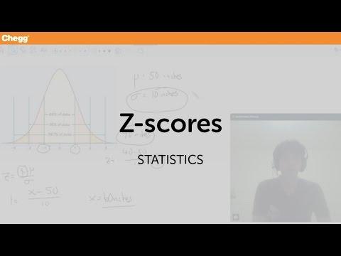 Z-scores | Statistics and Probability | Chegg Tutors