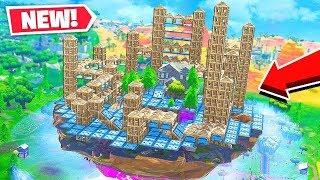*1000* BOUNCE PADS vs CUSTOM Floating City in Fortnite Battle Royale!