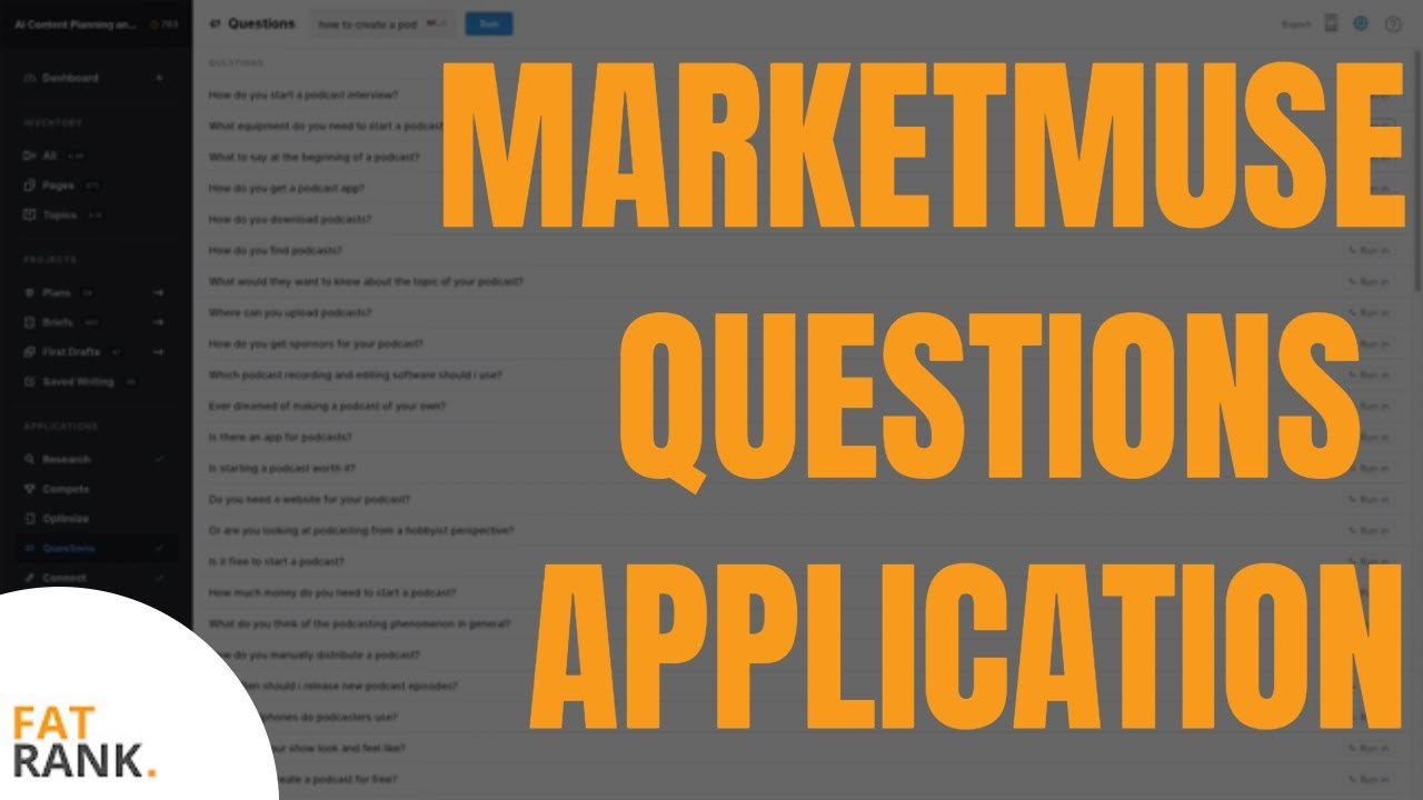 MarketMuse Questions Application | Find Q+A For Content Expansion