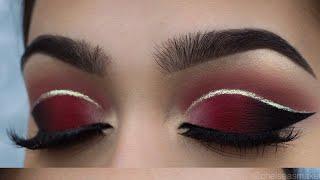 Download tutorial - Red cut crease + glitter Video