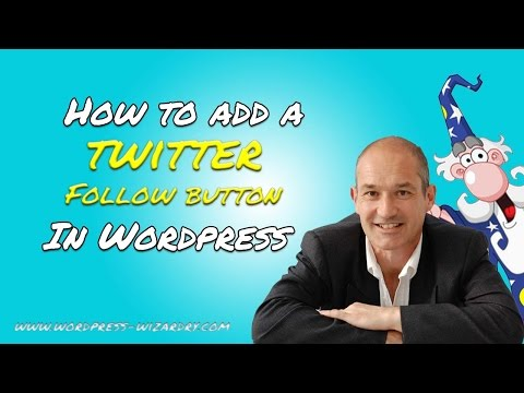 How to add a Twitter follow button on your Wordpress blog website