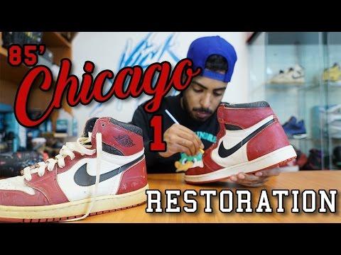 Original 1985 Air Jordan Chicago 1's Restoration by Vick Almighty