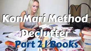 KonMari Method Declutter - Part 2 | Books