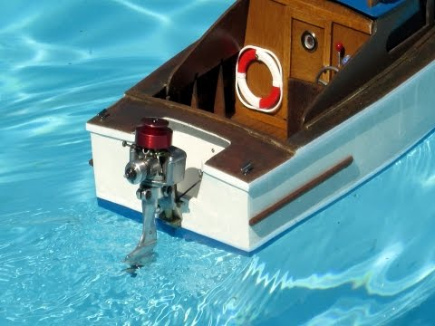 Nitro outboard engine  on a RC model boat ( part I)