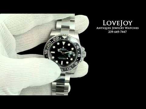 Rolex GMT Master II Stainless Steel Mens Watch Ceramic Bezel 116710