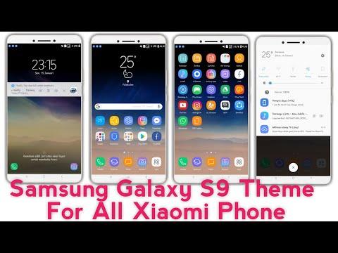 DOWNLOAD SAMSUNG GALAXY S9 THEME FOR ALL XIAOMI MI PHONE MIUI 8 MIUI