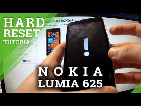 Hard Reset Nokia Lumia 625 - How to Bypass Screen Lock Protection