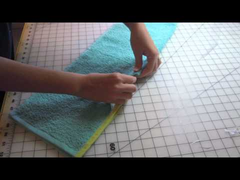 Target Hand Towel Bib Sewing Tutorial