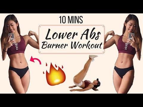 10 min Intense Lower Ab Workout BURN BELLY FAT No Equipment   10分鐘人魚線高強度下腹訓練   燃燒腹部脂肪
