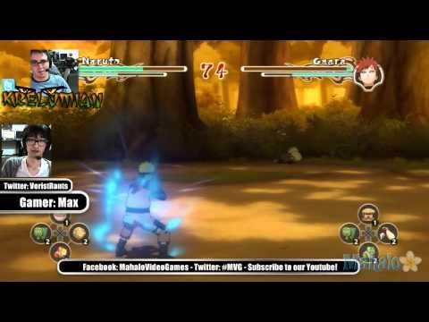 Max and Krel Anime LiveStream - Naruto Ninja Storm 2 - Naruto vs Gaara