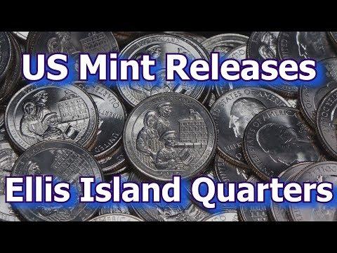 US Mint Releases Ellis Island Quarter Dollar Coins