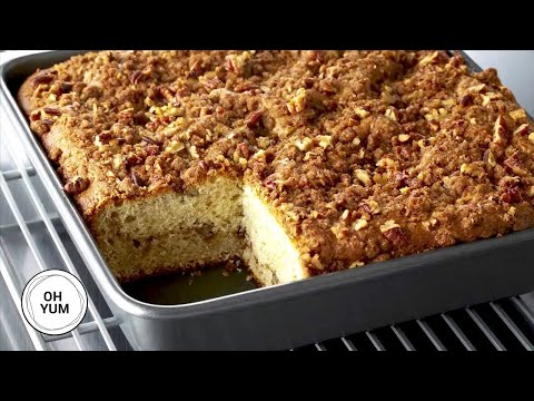 Sour Cream Pecan Coffee Cake | Oh Yum With Anna Olson