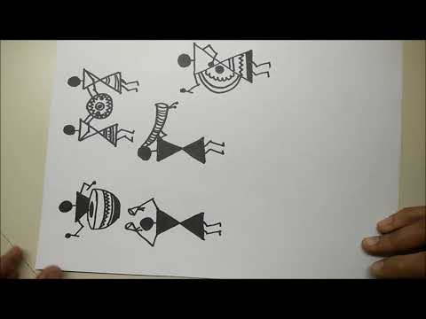 Warli Tutorial #10 || Musical Instruments || Warli Painting with Little Learners Corner