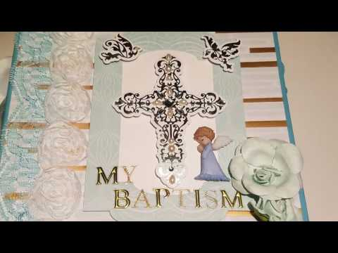 Baby Boy Baptism Album using Teresa Collins Design Paper