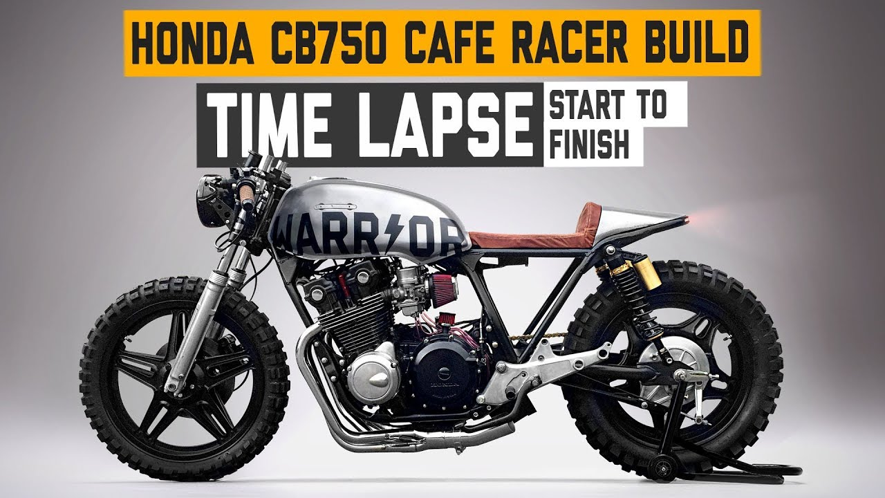 Honda CB750 Cafe Racer 'WARRIOR' Build Time Lapse