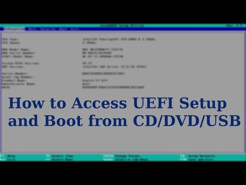UEFI Boot | How to Boot from CD's/DVD's/USB's