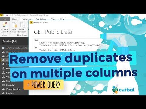 Remove duplicates on multiple columns -#5 (M)agic (M)ondays
