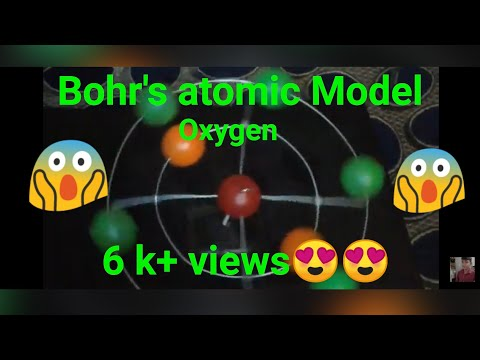 Bohr's Atomic model of Oxygen 3d