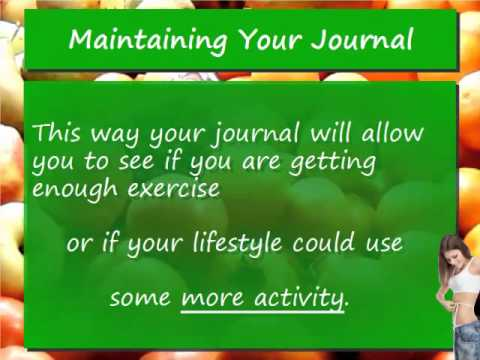 Video 4 Keeping and Maintaining a Food Journal