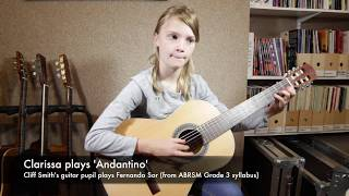 Download Sor's 'Andantino' - Clarissa (guitar pupil of Cliff Smith) Video