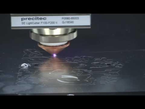 CPB-090060-150F Fiber Laser cut Aluminum 0.5mm 131sec