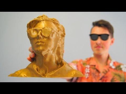 3D Printed Human Head - 3D Scanning