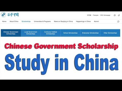 Chinese Government Scholarship for university Postgraduate Program