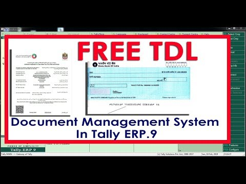 Document Management System in Tally ERP9 - FREE TDL