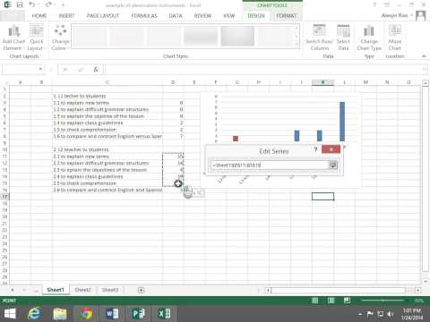 Excel 2013 Comparing two sets in the same graph