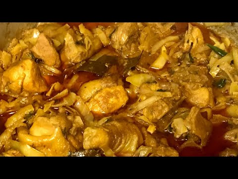Hard chicken with cabbage