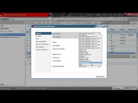 Red Hat Enterprise Virtualization Manager Demo