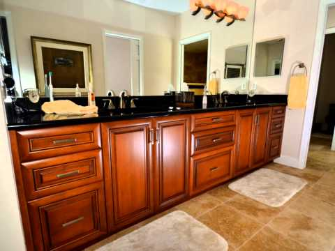 Kitchen cabinetry and cabinet refacing.