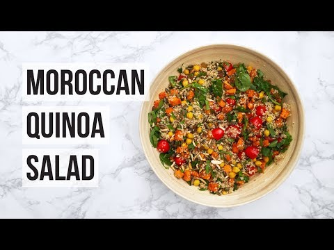 MOROCCAN QUINOA SALAD RECIPE | VEGAN & HEALTHY
