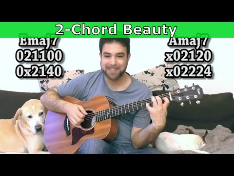 How to Make MORE Beautiful Music with Just TWO CHORDS - Guitar Lesson Tutorial w TAB