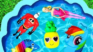 Learning Colors with Paw Patrol, Peppa Pig, Ben & Holly, My Little Pony and Pj Masks - For Kids Pool