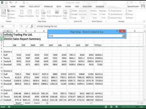 Repeating Row and Column Labels in Excel 2013