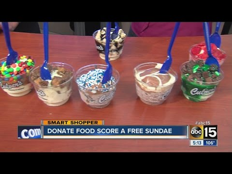 Donate food and score a free sundae