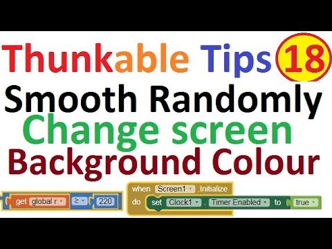 How to chagne apps screen background colour in Thunkable free aia file of change colour.